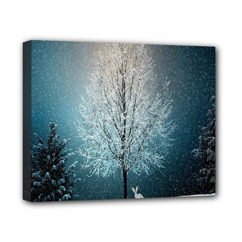 Winter Wintry Snow Snow Landscape Canvas 10  X 8  by Celenk