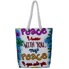 Christian Christianity Religion Full Print Rope Handle Bag (small) by Celenk