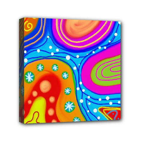 Abstract Pattern Painting Shapes Mini Canvas 6  X 6