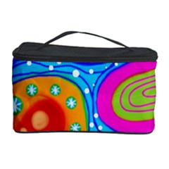 Abstract Pattern Painting Shapes Cosmetic Storage Case