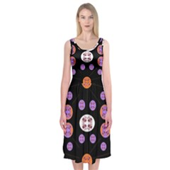 Planet Say Ten Midi Sleeveless Dress by MRTACPANS