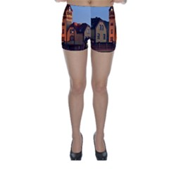 Blue Hour Colliery House Skinny Shorts by Celenk