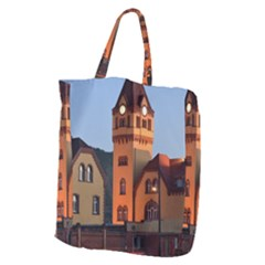 Blue Hour Colliery House Giant Grocery Zipper Tote by Celenk