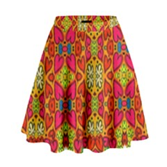Abstract Background Pattern Doodle High Waist Skirt