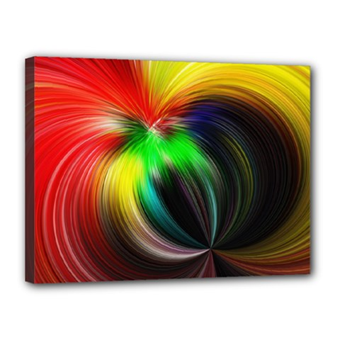 Circle Lines Wave Star Abstract Canvas 16  X 12  by Celenk