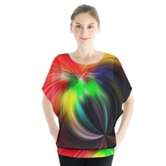 Circle Lines Wave Star Abstract Blouse