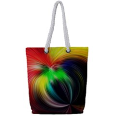 Circle Lines Wave Star Abstract Full Print Rope Handle Bag (small) by Celenk