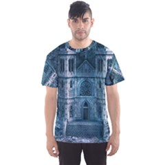Church Stone Rock Building Men s Sports Mesh Tee by Celenk