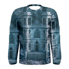 Church Stone Rock Building Men s Long Sleeve Tee by Celenk