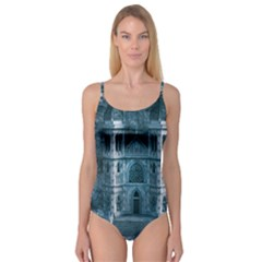 Church Stone Rock Building Camisole Leotard  by Celenk