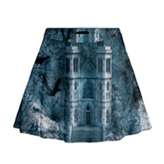 Church Stone Rock Building Mini Flare Skirt by Celenk