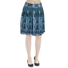 Church Stone Rock Building Pleated Skirt by Celenk