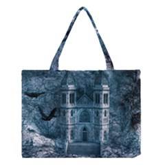 Church Stone Rock Building Medium Tote Bag by Celenk