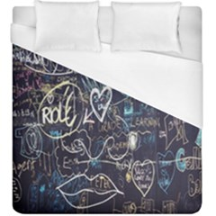 Graffiti Chalkboard Blackboard Love Duvet Cover (king Size)