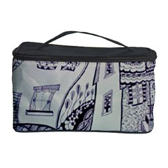 Doodle Drawing Texture Style Cosmetic Storage Case by Celenk