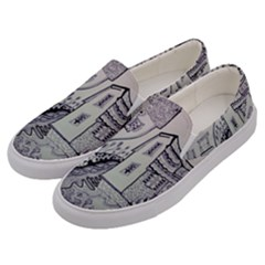 Doodle Drawing Texture Style Men s Canvas Slip Ons by Celenk