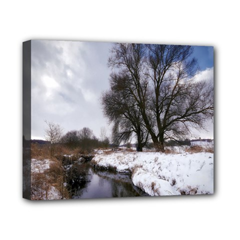 Winter Bach Wintry Snow Water Canvas 10  X 8  by Celenk