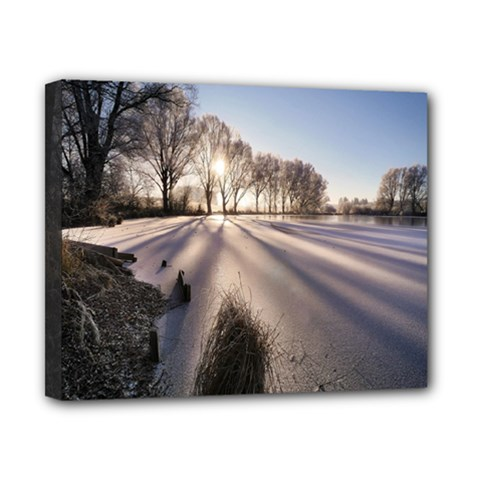 Winter Lake Cold Wintry Frozen Canvas 10  X 8  by Celenk