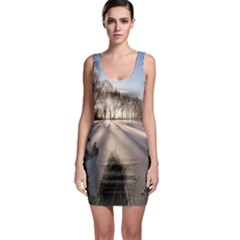 Winter Lake Cold Wintry Frozen Bodycon Dress by Celenk