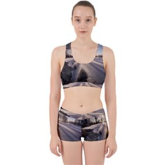 Winter Lake Cold Wintry Frozen Work It Out Sports Bra Set