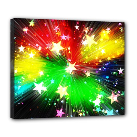 Star Abstract Pattern Background Deluxe Canvas 24  X 20   by Celenk