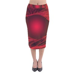 Abstract Scrawl Doodle Mess Velvet Midi Pencil Skirt