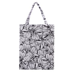 White Leaves Classic Tote Bag by SimplyColor
