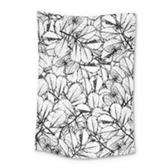 White Leaves Small Tapestry by SimplyColor