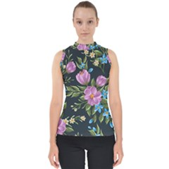 Beautiful Floral Pattern Shell Top by allthingseveryone