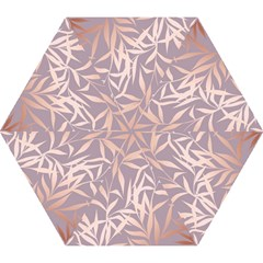 Rose Gold, Asian,leaf,pattern,bamboo Trees, Beauty, Pink,metallic,feminine,elegant,chic,modern,wedding Mini Folding Umbrellas by 8fugoso