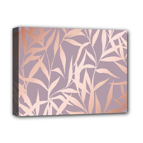 Rose Gold, Asian,leaf,pattern,bamboo Trees, Beauty, Pink,metallic,feminine,elegant,chic,modern,wedding Deluxe Canvas 16  X 12