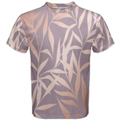 Rose Gold, Asian,leaf,pattern,bamboo Trees, Beauty, Pink,metallic,feminine,elegant,chic,modern,wedding Men s Cotton Tee by 8fugoso