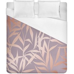 Rose Gold, Asian,leaf,pattern,bamboo Trees, Beauty, Pink,metallic,feminine,elegant,chic,modern,wedding Duvet Cover (california King Size) by 8fugoso