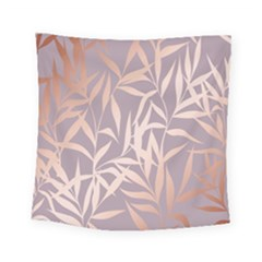 Rose Gold, Asian,leaf,pattern,bamboo Trees, Beauty, Pink,metallic,feminine,elegant,chic,modern,wedding Square Tapestry (small)
