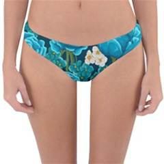 Light Blue Roses And Daisys Reversible Hipster Bikini Bottoms by allthingseveryone