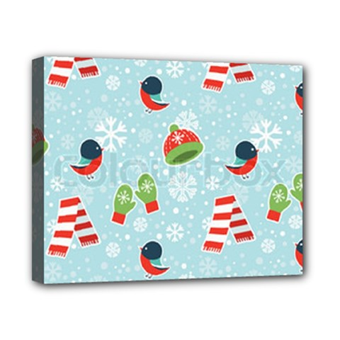 Winter Fun Pattern Canvas 10  X 8  by allthingseveryone