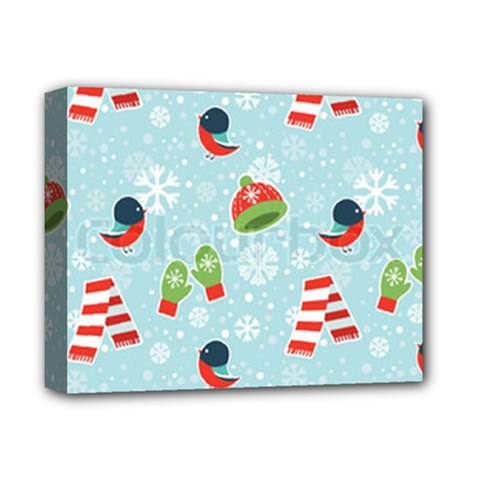 Winter Fun Pattern Deluxe Canvas 14  X 11  by allthingseveryone