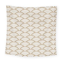 Art Deco,japanese Fan Pattern, Gold,white,vintage,chic,elegant,beautiful,shell Pattern, Modern,trendy Square Tapestry (large) by 8fugoso
