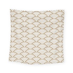 Art Deco,japanese Fan Pattern, Gold,white,vintage,chic,elegant,beautiful,shell Pattern, Modern,trendy Square Tapestry (small) by 8fugoso