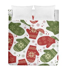 Winter Snow Mittens Duvet Cover Double Side (full/ Double Size) by allthingseveryone