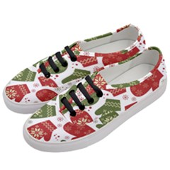 Winter Snow Mittens Women s Classic Low Top Sneakers by allthingseveryone
