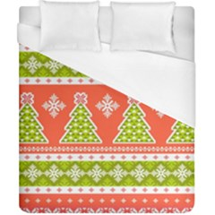 Christmas Tree Ugly Sweater Pattern Duvet Cover (california King Size) by allthingseveryone