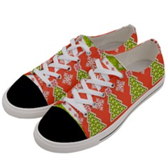 Christmas Tree Ugly Sweater Pattern Women s Low Top Canvas Sneakers by allthingseveryone