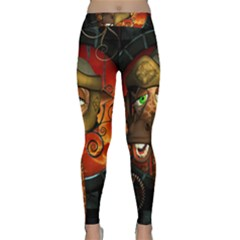 Funny Giraffe With Helmet Classic Yoga Leggings by FantasyWorld7
