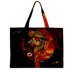 Funny Giraffe With Helmet Zipper Mini Tote Bag by FantasyWorld7