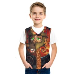Funny Giraffe With Helmet Kids  Sportswear by FantasyWorld7