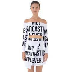 Me Sarcastic Never Off Shoulder Top With Skirt Set