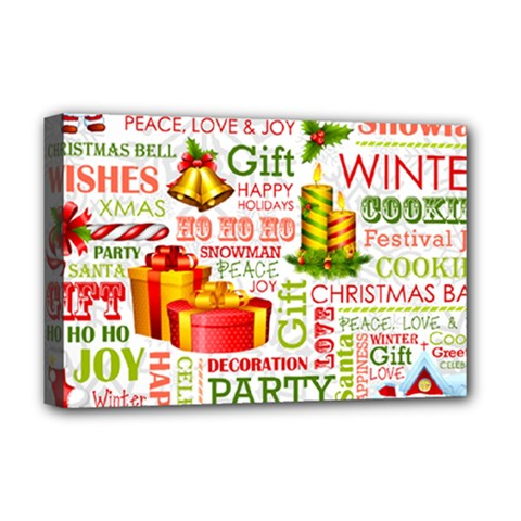 The Joys Of Christmas Deluxe Canvas 18  X 12   by allthingseveryone