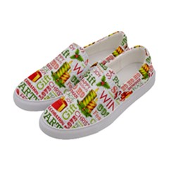 The Joys Of Christmas Women s Canvas Slip Ons by allthingseveryone