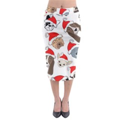 Christmas Puppies Midi Pencil Skirt by allthingseveryone